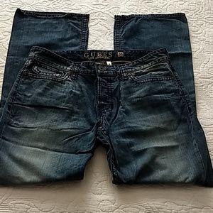 Guess Men's Flacon Jeans, Slim Bootcut, 34x32